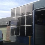 Vertical thin film solar modules