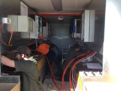 Containerised power system construction