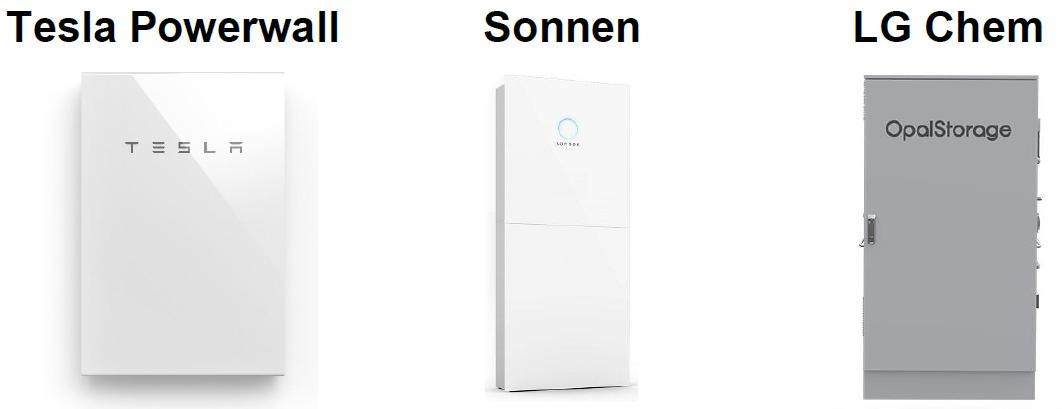 Tesla Powerwall Sonnen LG Chem